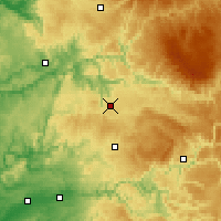Nearby Forecast Locations - Rodez - Map
