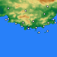 Nearby Forecast Locations - Toulon - Map