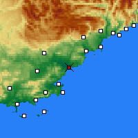 Nearby Forecast Locations - Fréjus - Map