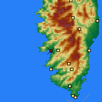 Nearby Forecast Locations - Ajaccio - Map
