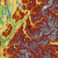 Nearby Forecast Locations - Valmorel - Map