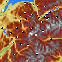 Nearby Forecast Locations - Tal Chamonix - Map