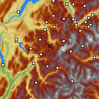 Nearby Forecast Locations - Megève - Map