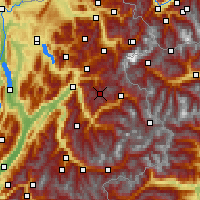 Nearby Forecast Locations - Beaufortain - Map