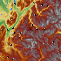 Nearby Forecast Locations - Les Trois Vallées - Map