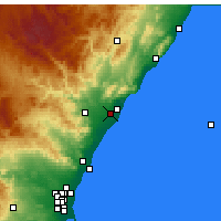 Nearby Forecast Locations - Castellón de la Plana - Map