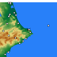 Nearby Forecast Locations - Dénia - Map