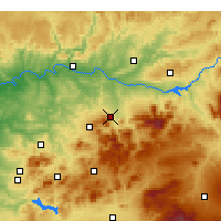 Nearby Forecast Locations - Jaén - Map