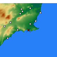 Nearby Forecast Locations - Cartagena - Map