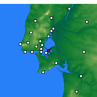 Nearby Forecast Locations - Montijo - Map