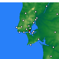 Nearby Forecast Locations - Lissabon/Geof - Map