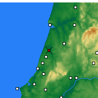 Nearby Forecast Locations - Leiria - Map