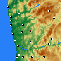 Nearby Forecast Locations - Guimarães - Map