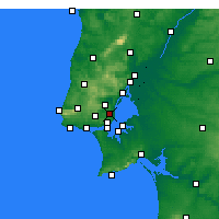 Nearby Forecast Locations - Lisbon - Map