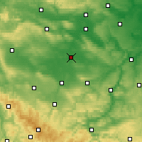 Nearby Forecast Locations - Sömmerda - Map