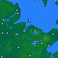 Nearby Forecast Locations - Kiel Lighthouse - Map