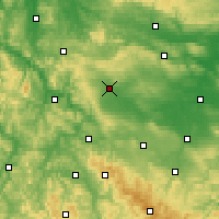 Nearby Forecast Locations - Mühlhausen - Map