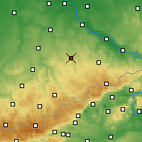 Nearby Forecast Locations - Freiberg - Map