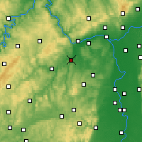 Nearby Forecast Locations - Bad Kreuznach - Map