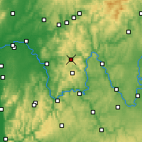 Nearby Forecast Locations - Neuhütten - Map