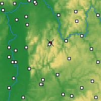 Nearby Forecast Locations - Odenwald - Map