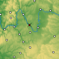 Nearby Forecast Locations - Würzburg - Map