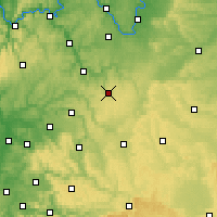 Nearby Forecast Locations - Niederstetten - Map