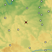 Nearby Forecast Locations - Ansbach - Map
