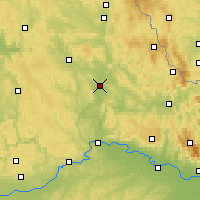 Nearby Forecast Locations - Schwandorf - Map
