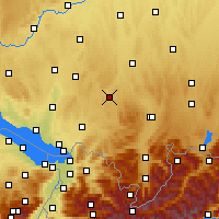 Nearby Forecast Locations - Leutkirch im Allgäu - Map