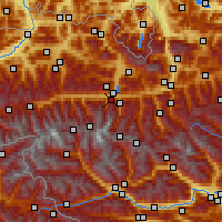 Nearby Forecast Locations - Kaprun - Map