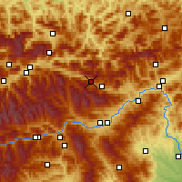 Nearby Forecast Locations - Wald am Schoberpass - Map
