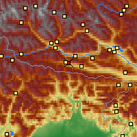 Nearby Forecast Locations - Kötschach - Map
