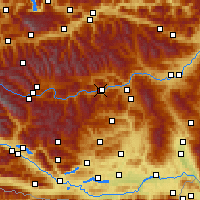 Nearby Forecast Locations - Murau - Map