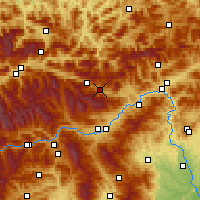 Nearby Forecast Locations - Kalwang - Map
