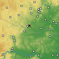 Nearby Forecast Locations - Kuchařovice - Map
