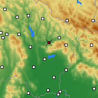 Nearby Forecast Locations - Kamenica nad Cirochou - Map
