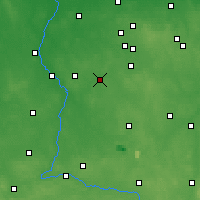 Nearby Forecast Locations - Łask - Map