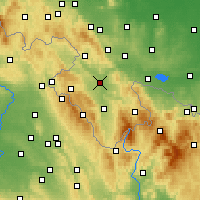 Nearby Forecast Locations - Kłodzko - Map