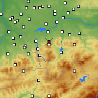 Nearby Forecast Locations - Bielsko-Biała - Map