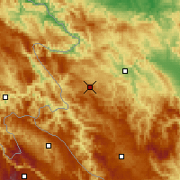 Nearby Forecast Locations - Zlatibor - Map
