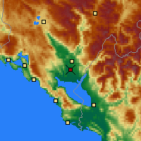 Nearby Forecast Locations - Podgorica - Map