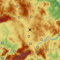 Nearby Forecast Locations - Pristina - Map