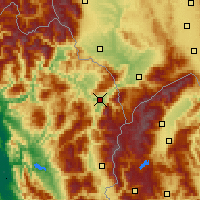 Nearby Forecast Locations - Kukës - Map