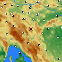Nearby Forecast Locations - Kočevje - Map