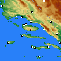 Nearby Forecast Locations - Bol Airport - Map