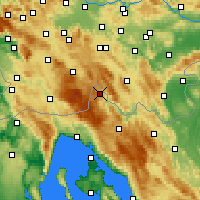 Nearby Forecast Locations - Čabar - Map