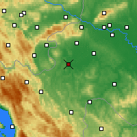 Nearby Forecast Locations - Karlovac - Map