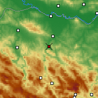 Nearby Forecast Locations - Banja Luka - Map