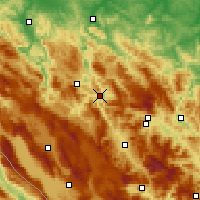 Nearby Forecast Locations - Jajce - Map